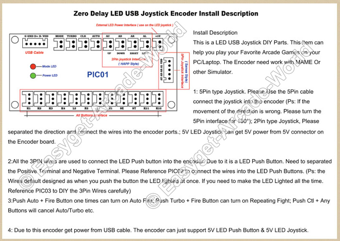 x arcade wiring diagram for usb easyget 2x led arcade mame diy kit parts push buttons ... wiring diagram for usb charger