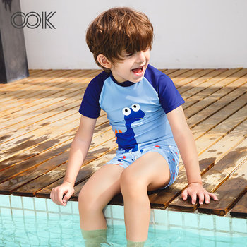 OOK children's swimwear boys and girls children's baby split suit swimming trunks in the big boy one-piece swimsuit princess