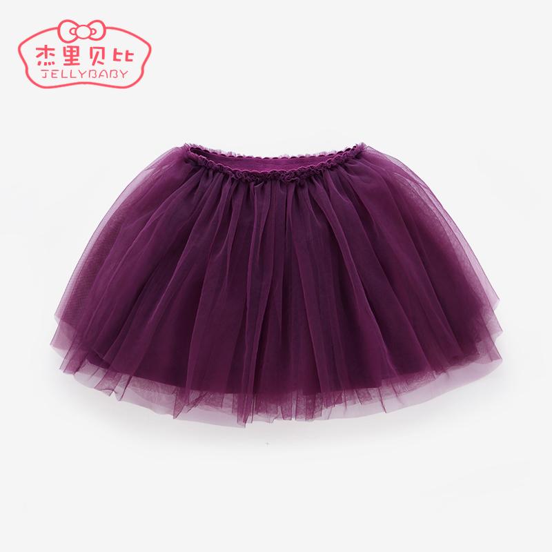 Детские Марля 1-3 года, пушистая пряжа, 6 маленьких детские Чистая пряжа юбка зима на младенца Короткая юбка весна 5 на девочку подол