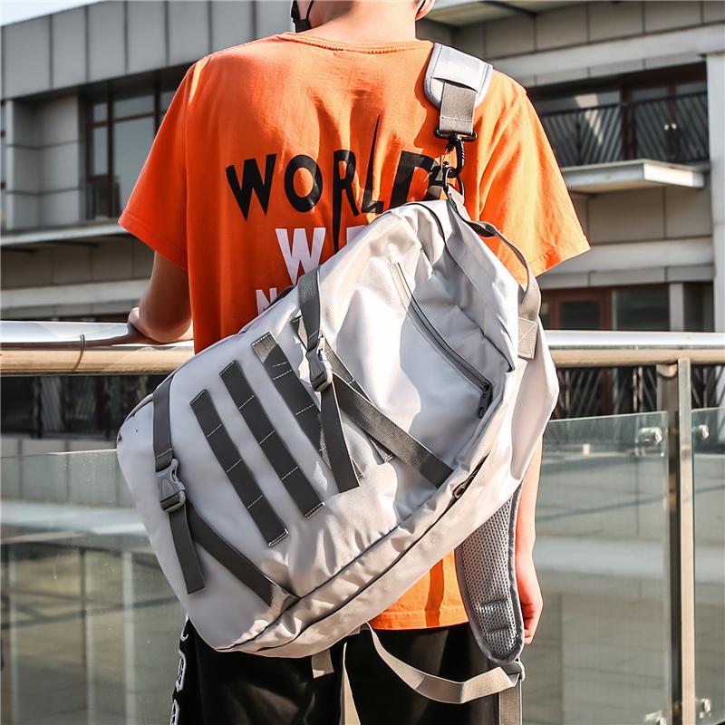 Оригинальный оригинал для отдыха плечи пакет мужской Холстина большой емкости высокая Студент средней школы пакет женщина корейская версия мужской Путешествие назад пакет