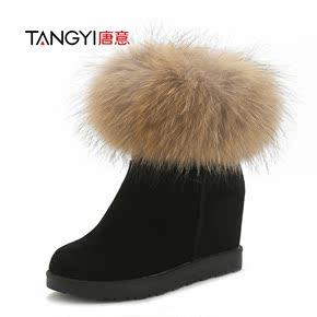 内增高雪地靴女加绒加厚