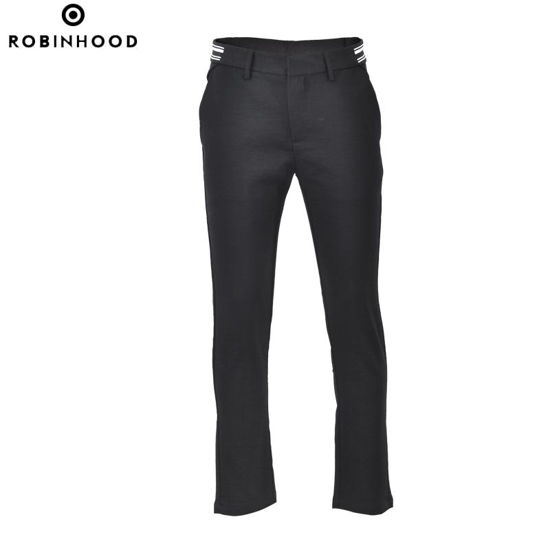 罗宾汉男装robinhood松紧织带装饰休闲裤|1518304B