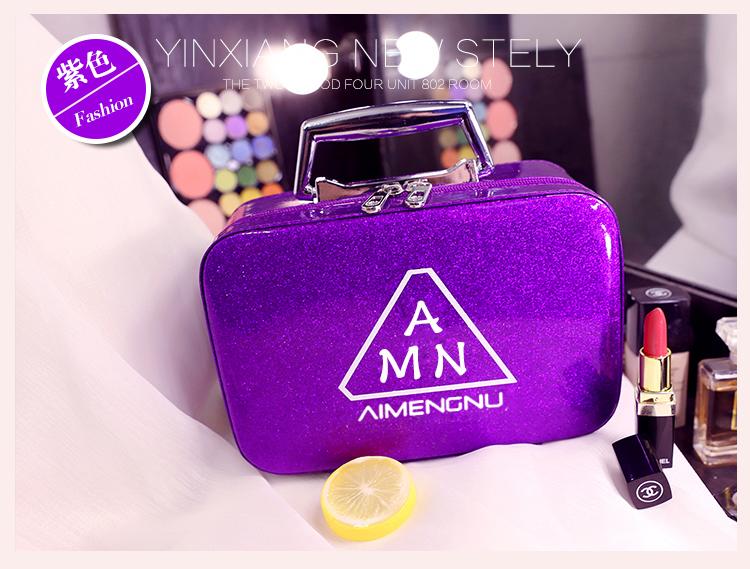 化妆包女可携式大容量风超火小号收纳包可爱化妆品收纳盒箱手提详细照片