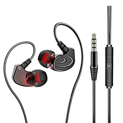 澳莱特A6入耳式耳机K歌手机电脑重低音炮有线控带麦男女生耳塞式适用小米vivo华为oppor9s苹果安卓6s通用x20