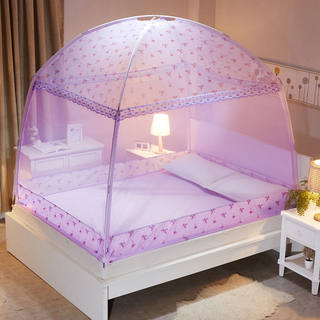 20 yurt mosquito nets U-shaped three doors 1.8m bed 1.5 double household encryption thickened 1.2m bed dormitory