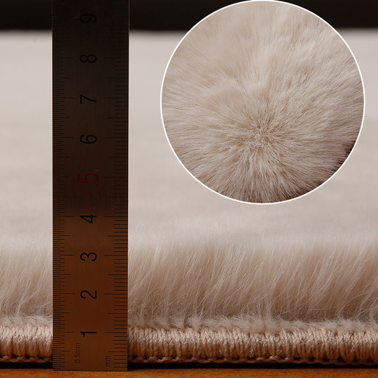 Round carpet bedroom bedside children's imitation rabbit fur Nordic ins modern minimalist room long hair computer chair mat