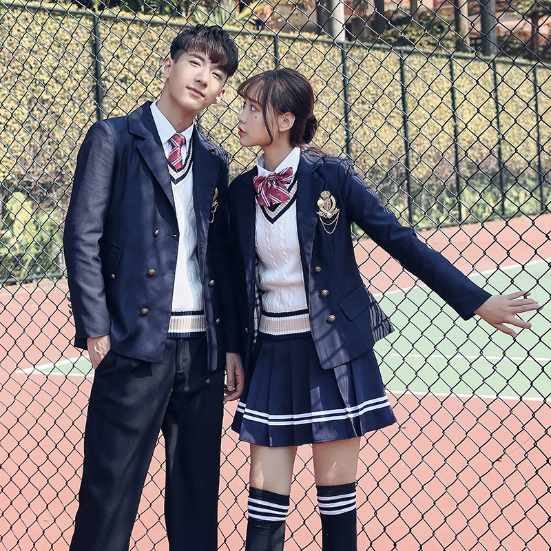 c4d5f9bc9 Spring and Autumn England College School Uniform Suit Japan and South Korea  Student Wear Men and