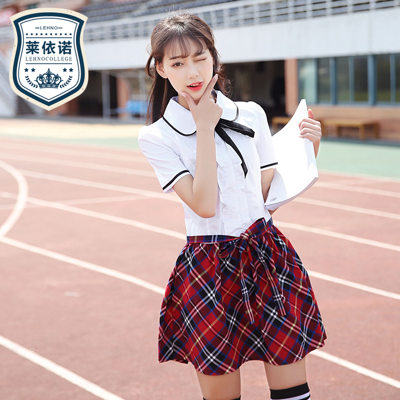 0efe2065b Japan and South Korea Spring school uniform dress College Wind Women's student  uniforms British girls Korean version of the sailor suit