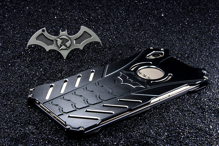R-Just Batman Shockproof Aluminum Shell Metal Case with Custom Stent for OPPO R9 Plus & OPPO R9