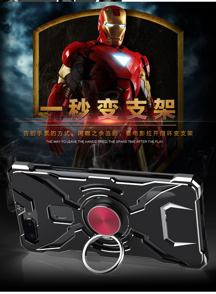 WK Iron Man Military Grade Shockproof Screw-less Metal Case w/ Ring Holder for OPPO R11s Plus & OPPO R11s
