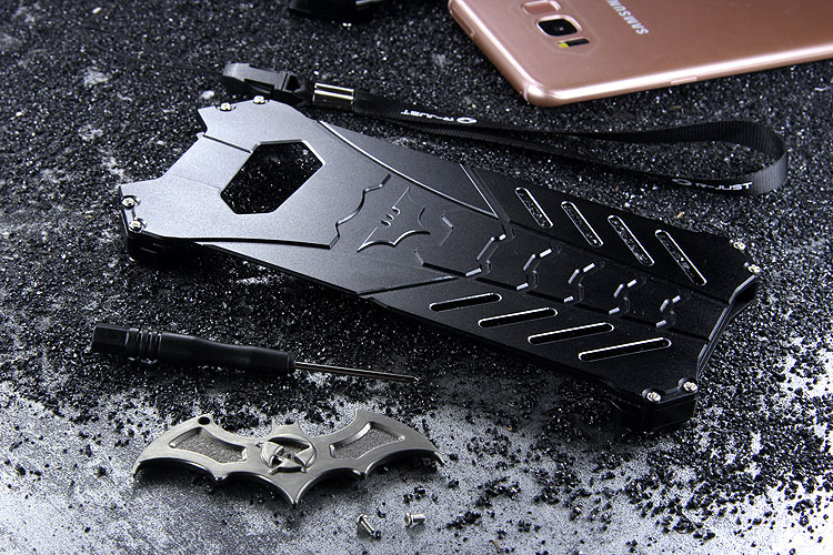 new style 23f7c d7036 R-Just Batman Shockproof Aluminum Shell Metal Case with Custom ...