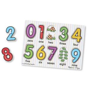 melissadoug木质宝宝数字字母拼图 幼儿童早教益智玩具1至3岁