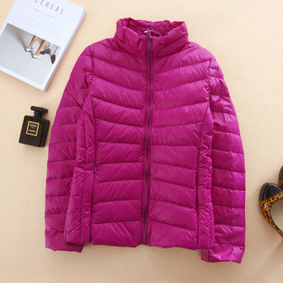 Brand women's 2017 autumn and winter fashion thin down jacket Slim thin was thin YRY0072 purple
