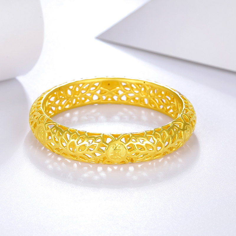 bracelet love about supermall saifei lotus open g s hollow women gold