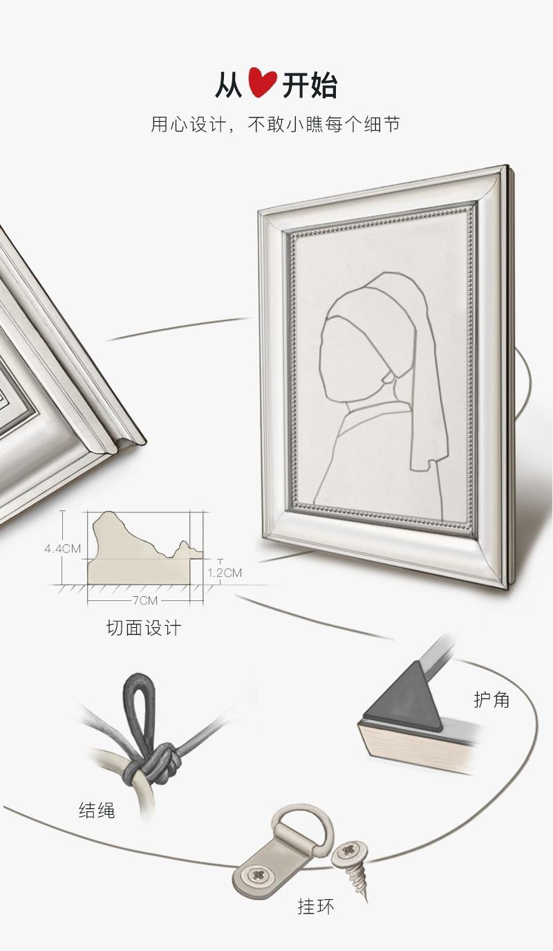 上品印画 莫奈睡莲和云彩 欧式样板房卧室风景画床头挂画装饰画框商品详情图