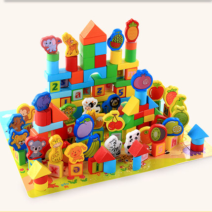 226 Pieces Toddler Kids 1-6 Early Education Wooden Building Blocks