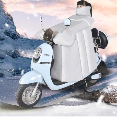 电动摩托车挡风被冬季加绒加厚加大防风保暖电瓶车挡风罩防晒防水