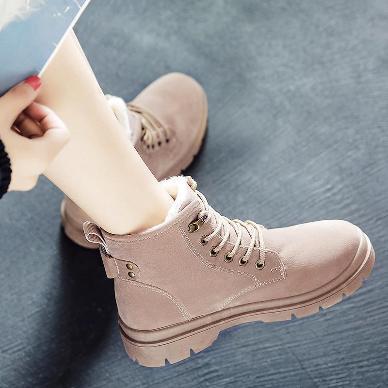 36新款马丁靴女学生韩版冬鞋百搭冬天加绒棉鞋网红雪地短靴淘宝购物优惠券