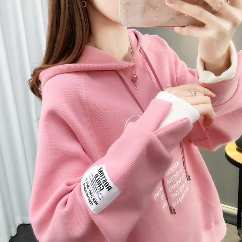 Mùa xuân 2020 áo len mới của phụ nữ lỏng lẻo mùa xuân Hàn Quốc và mùa thu mỏng phần giả áo hai dây áo thủy triều - Áo len
