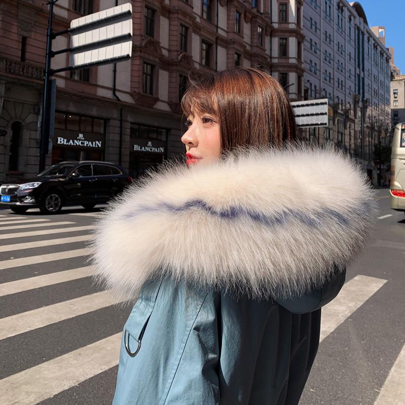实拍羽绒服女2019冬韩版中长款过膝宽松棉衣收腰显瘦外套风衣棉服