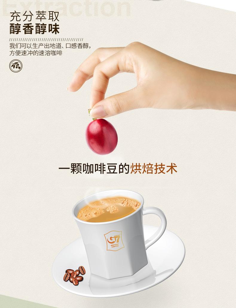 正品越南原装进口中原咖啡三合一速溶咖啡粉提神原味特浓条详细照片