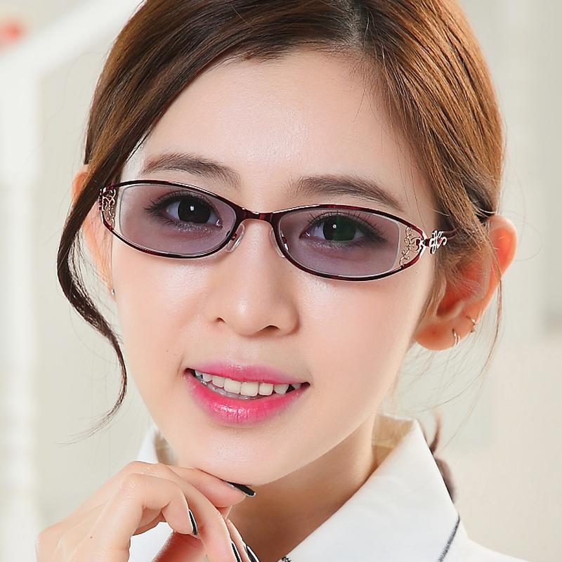 女平光有色柔光线防蓝光辐射紫外线浅色挡光电脑电视手机护目眼镜