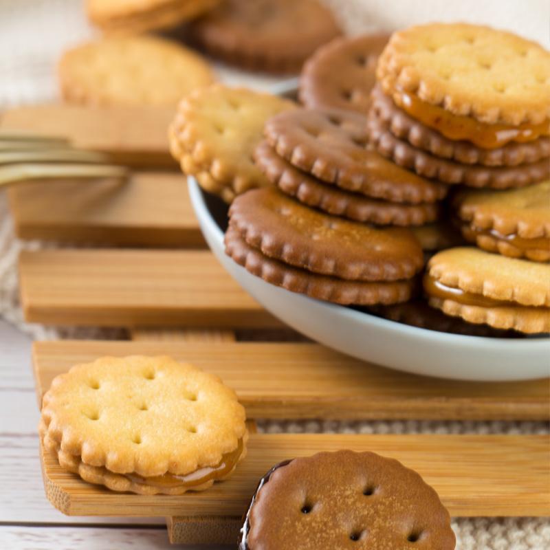 【拍4件】台湾风味黑糖麦芽咸蛋黄夹心饼干 券后14.9元包邮