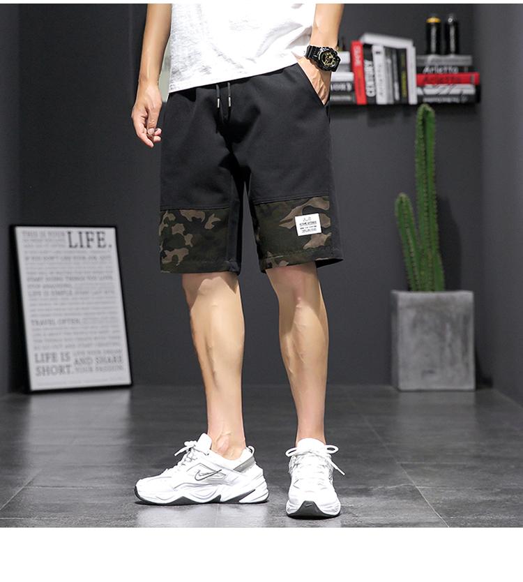 20夏季日系大码休闲潮流运动迷彩工装沙滩短裤五分裤K1025-P35