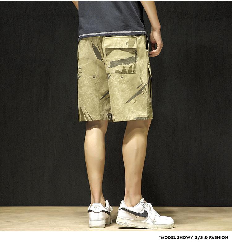 20夏季日系大码休闲潮流运动迷彩工装沙滩短裤五分裤 男K1023-P35
