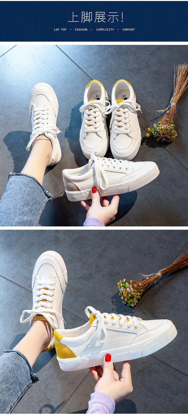 夏季薄款新款爆款小白鞋女鞋子年春秋平底百搭潮板鞋详细照片