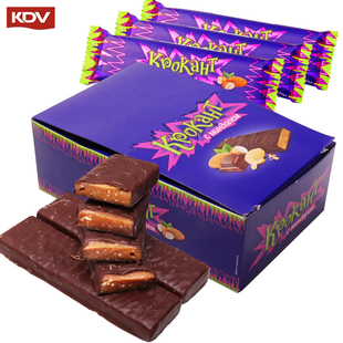 俄罗斯进口kdv紫皮糖巧克力棒