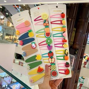 可愛彩色水果兒童發夾【10件套】