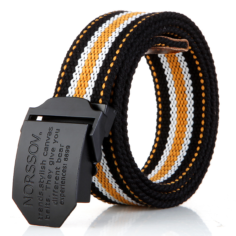 N17 black buckle yellow stripes