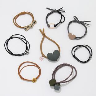 韓國高彈力皮筋扎頭髮頭繩*10