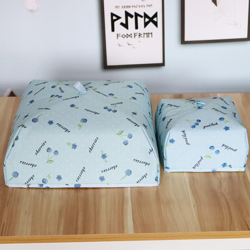 加厚可折叠盖菜罩厨房保温食物罩盖菜饭罩2件 防尘罩遮菜伞饭菜罩
