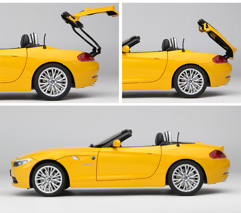 1:18 KYOSHO BMW Z4 E89 Convertible Die Cast Model Yellow