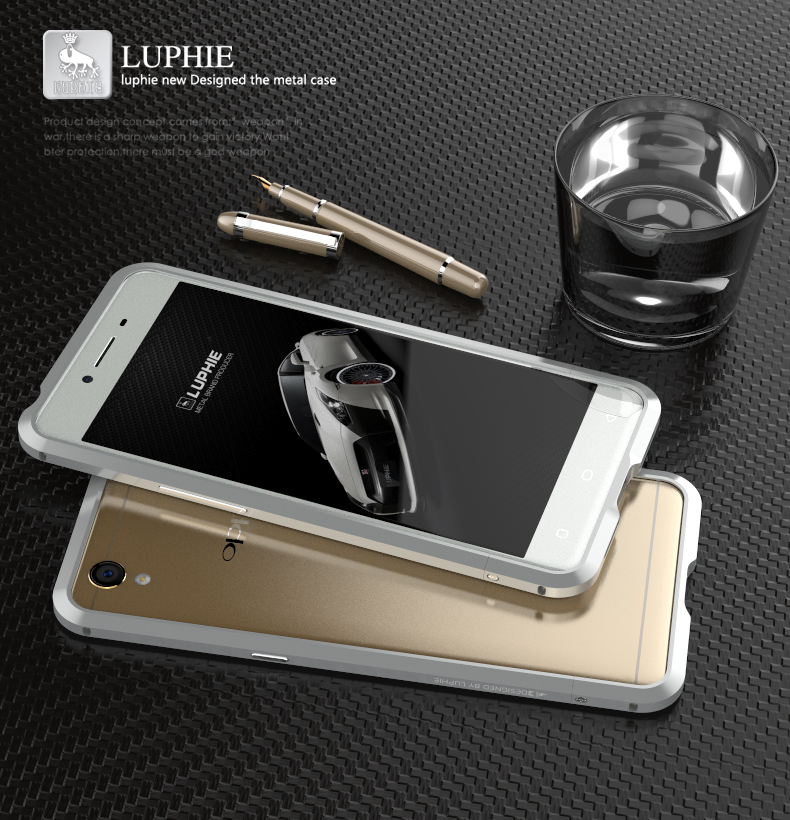 Luphie Blade Sword Slim Light Aluminum Bumper Metal Shell Case for OPPO A37