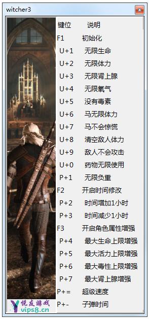 巫师3:狂猎 十九项修改器