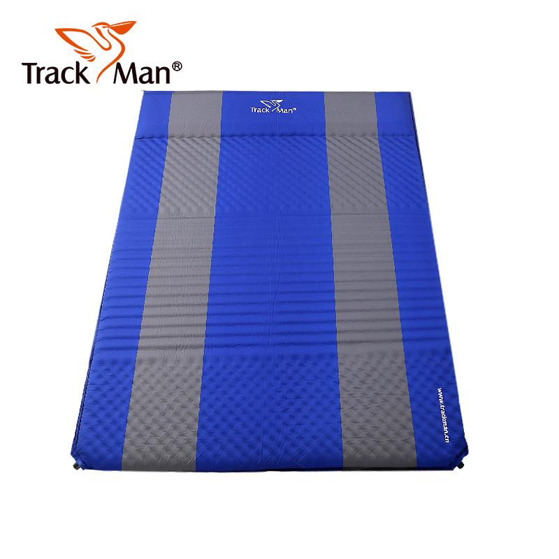枕头正品TrackMan自游人户外露营垫带专柜自动充气垫防潮垫