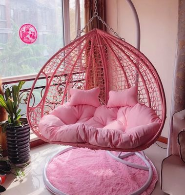 Double hanging basket rattan chair interior balcony hanging chair user outside the swing thousand radiant chair lazy bird nest hammock rocking chair
