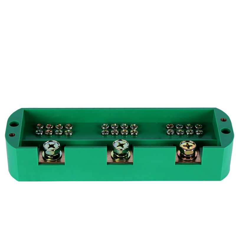 Three into twelve out of the junction box meter box distribution box  metering box three-phase line box sets of wiring terminal block