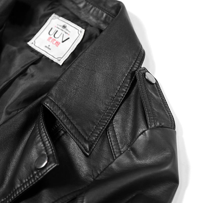 Pu da nhỏ nữ ngắn áo xe gắn máy là mỏng mùa xuân và mùa thu mỏng Hàn Quốc áo khoác da nữ 2018 mới thủy triều màu đen Quần áo da