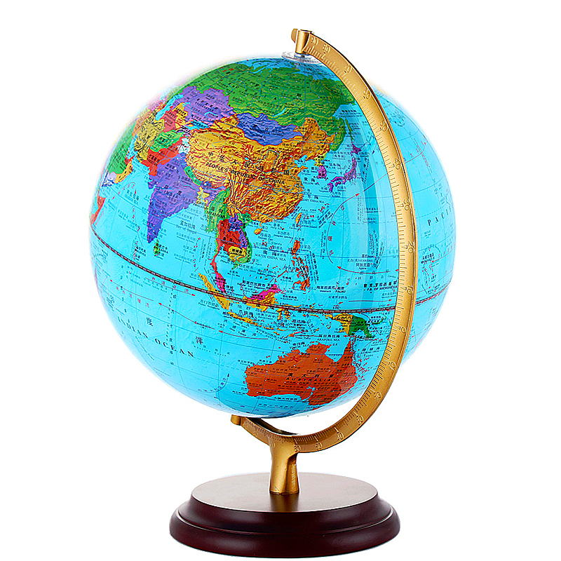Xingyu 2019 national standard world 32cm globe geography teaching students  HD wooden bottom middle school students high school students