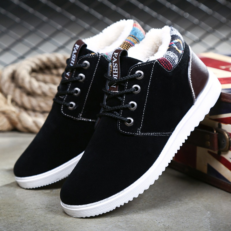 Winter men's shoes cotton shoes men's casual shoes men's plus velvet thick warm shoes Korean version of the trend of waterproof shoes men