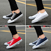 Summer men's canvas shoes men's shoes casual shoes men's Korean version of the student shoes shoes shoes lovers low tide small white shoes