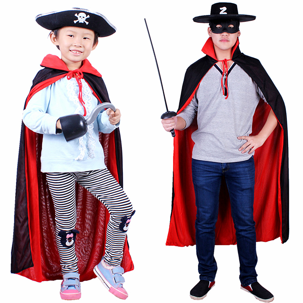 Halloween child costume Pirates of the knife Zorro dress child adult double-sided Cape Red  sc 1 st  ChinaHao.com & USD 6.78] Halloween child costume Pirates of the knife Zorro dress ...