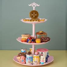 三层果盘可拆客厅水果盘家用糖果盒欧式结婚干果盘过年水果篮 cr