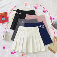 Лето 2019 новая коллекция Стройная юбка студентка корейская версия черный Плиссированная юбка высокая Талия А слово Юбка женская ins юбка