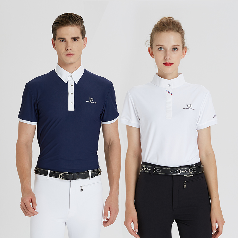 a9b01dfb4 Equestrian T-shirt POLO shirt professional riding short-sleeved men and  women equestrian clothing obstacle equestrian competition suits adult  children