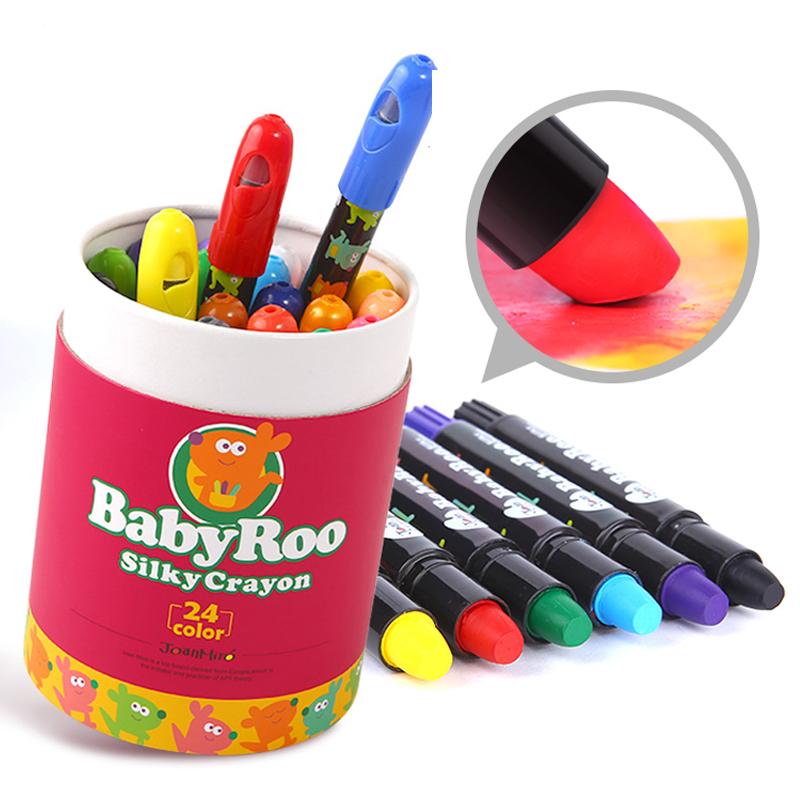 美樂蠟筆兒童安全無毒可食用寶寶水洗旋轉畫筆嬰幼兒1-2-3歲涂鴉
